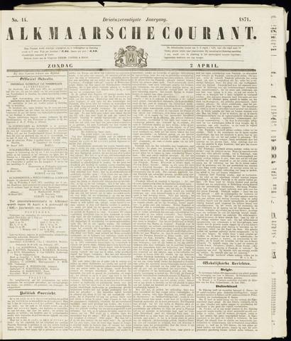 Alkmaarsche Courant 1871-04-02