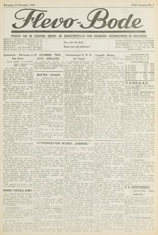 Flevo-bode: nieuwsblad voor Wieringen-Wieringermeer 1949-11-23