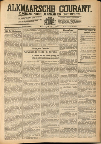 Alkmaarsche Courant 1934-02-28