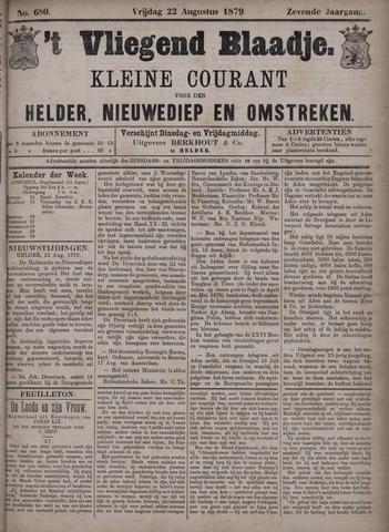 Vliegend blaadje : nieuws- en advertentiebode voor Den Helder 1879-08-22