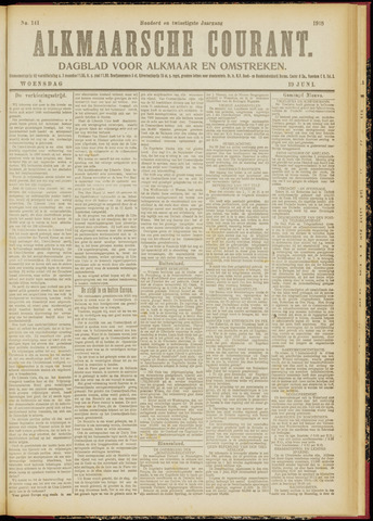 Alkmaarsche Courant 1918-06-19