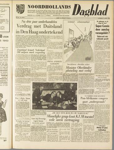 Noordhollands Dagblad : dagblad voor Alkmaar en omgeving 1960-04-09