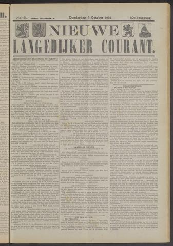 Nieuwe Langedijker Courant 1921-10-06