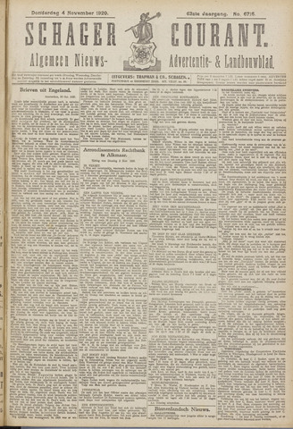 Schager Courant 1920-11-04