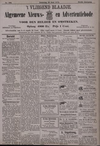 Vliegend blaadje : nieuws- en advertentiebode voor Den Helder 1875-06-26
