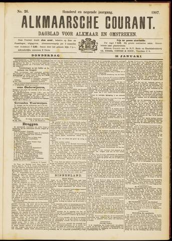 Alkmaarsche Courant 1907-01-31