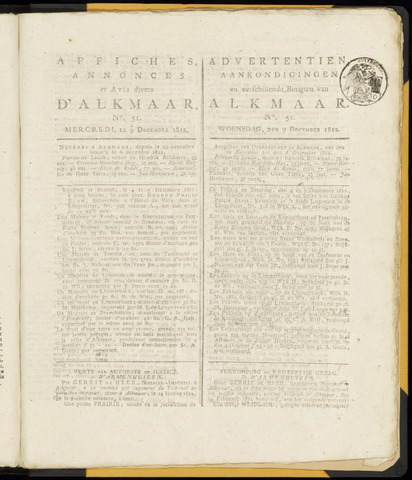 Alkmaarsche Courant 1812-12-09