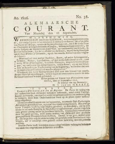 Alkmaarsche Courant 1806-09-22