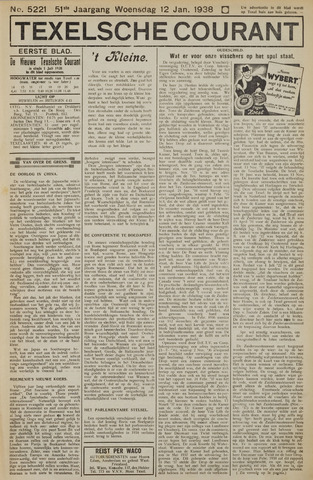 Texelsche Courant 1938-01-12