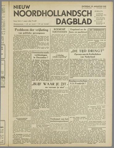 Nieuw Noordhollandsch Dagblad : voor Alkmaar en omgeving 1945-08-25