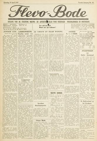 Flevo-bode: nieuwsblad voor Wieringen-Wieringermeer 1947-04-19