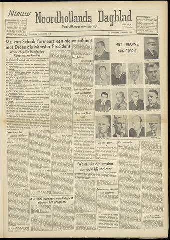 Nieuw Noordhollandsch Dagblad : voor Alkmaar en omgeving 1948-08-07