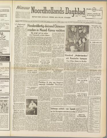 Nieuw Noordhollandsch Dagblad : voor Alkmaar en omgeving 1950-11-06