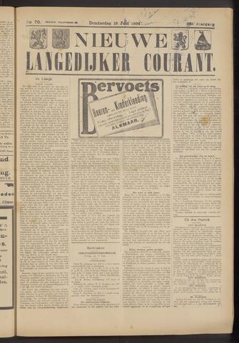 Nieuwe Langedijker Courant 1924-06-19
