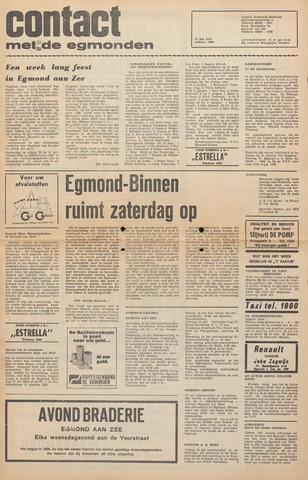 Contact met de Egmonden 1972-07-12