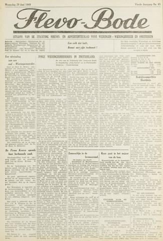 Flevo-bode: nieuwsblad voor Wieringen-Wieringermeer 1949-06-29
