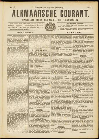 Alkmaarsche Courant 1907-01-03