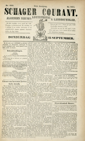 Schager Courant 1881-09-15