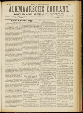 Alkmaarsche Courant 1915-11-11