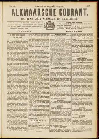 Alkmaarsche Courant 1907-02-16