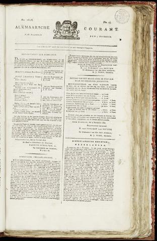 Alkmaarsche Courant 1818-11-09