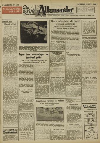 De Vrije Alkmaarder 1948-09-25