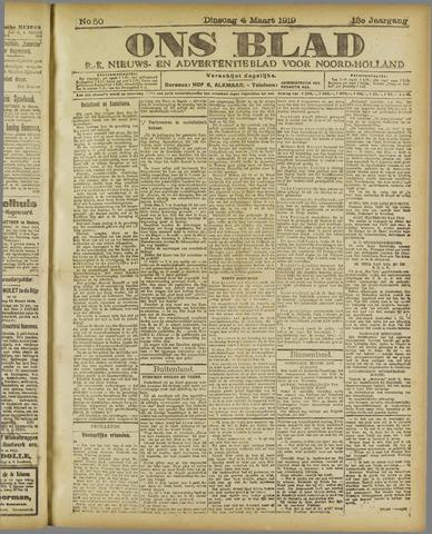 Ons Blad : katholiek nieuwsblad voor N-H 1919-03-04