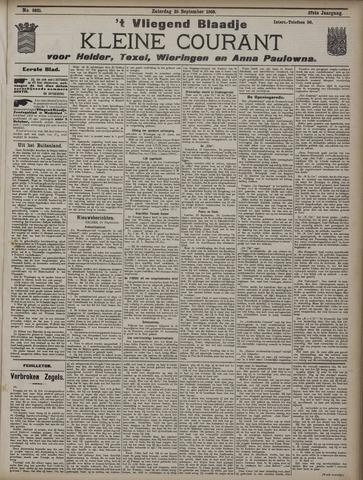 Vliegend blaadje : nieuws- en advertentiebode voor Den Helder 1909-09-25