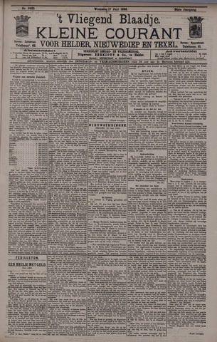 Vliegend blaadje : nieuws- en advertentiebode voor Den Helder 1896-06-17