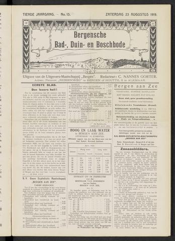 Bergensche bad-, duin- en boschbode 1919-08-23