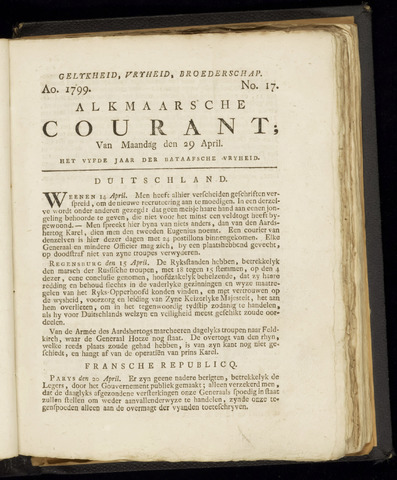 Alkmaarsche Courant 1799-04-29