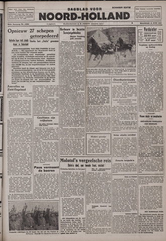 Dagblad Noord-Holland, Schager editie 1942-06-15
