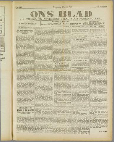 Ons Blad : katholiek nieuwsblad voor N-H 1920-06-23