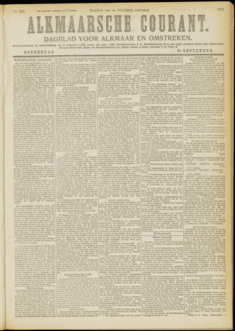 Alkmaarsche Courant 1919-09-18