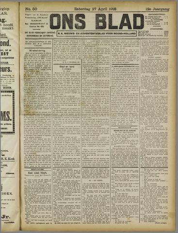 Ons Blad : katholiek nieuwsblad voor N-H 1918-04-27