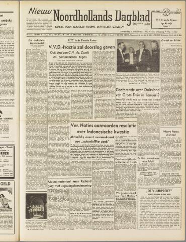 Nieuw Noordhollandsch Dagblad : voor Alkmaar en omgeving 1949-12-08