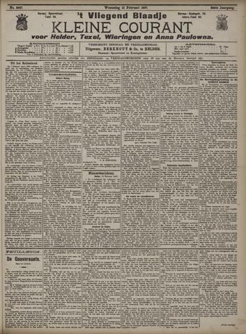 Vliegend blaadje : nieuws- en advertentiebode voor Den Helder 1907-02-13