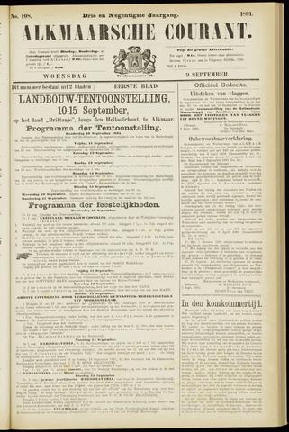 Alkmaarsche Courant 1891-09-09