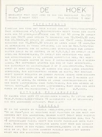 Op De Hoek, weekblad voor Akersloot 1961-03-03