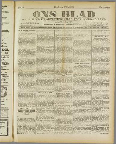Ons Blad : katholiek nieuwsblad voor N-H 1920-05-27