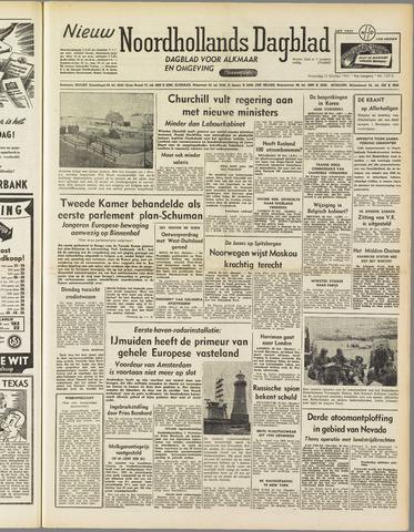 Nieuw Noordhollandsch Dagblad : voor Alkmaar en omgeving 1951-10-31