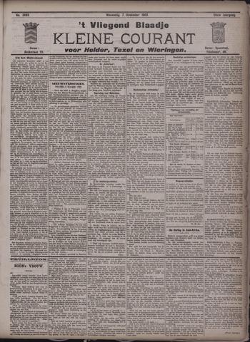 Vliegend blaadje : nieuws- en advertentiebode voor Den Helder 1900-11-07