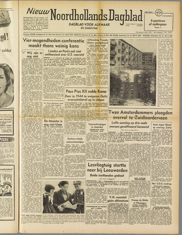 Nieuw Noordhollandsch Dagblad : voor Alkmaar en omgeving 1952-05-08