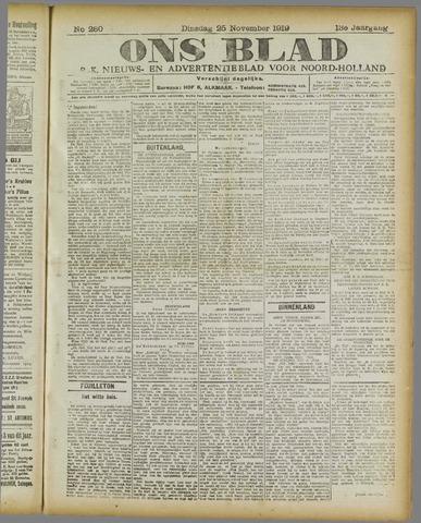 Ons Blad : katholiek nieuwsblad voor N-H 1919-11-25