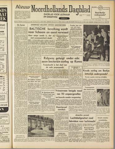 Nieuw Noordhollandsch Dagblad : voor Alkmaar en omgeving 1952-06-18