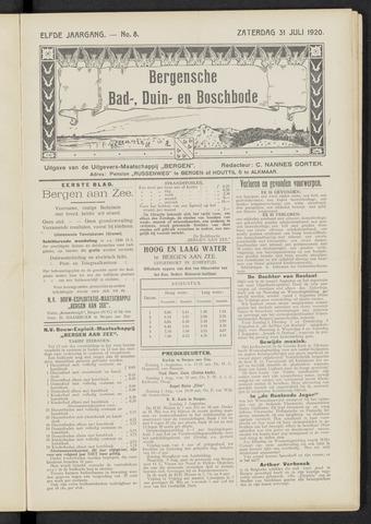 Bergensche bad-, duin- en boschbode 1920-07-31