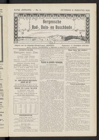 Bergensche bad-, duin- en boschbode 1920-08-21