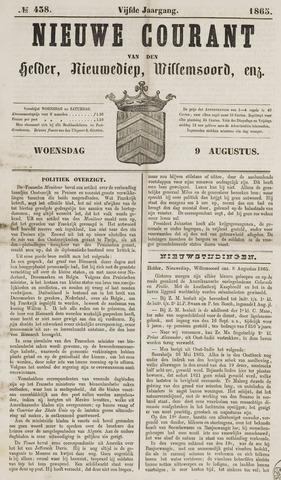 Nieuwe Courant van Den Helder 1865-08-09