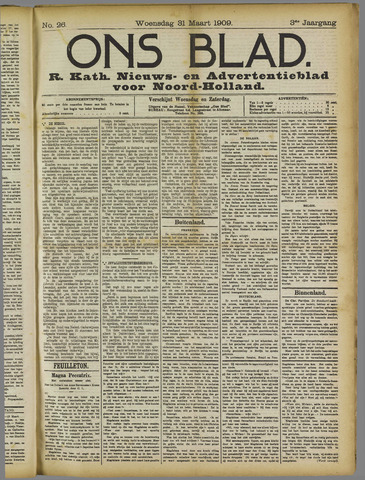 Ons Blad : katholiek nieuwsblad voor N-H 1909-03-31