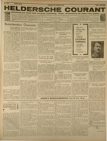 Heldersche Courant 1935-01-22